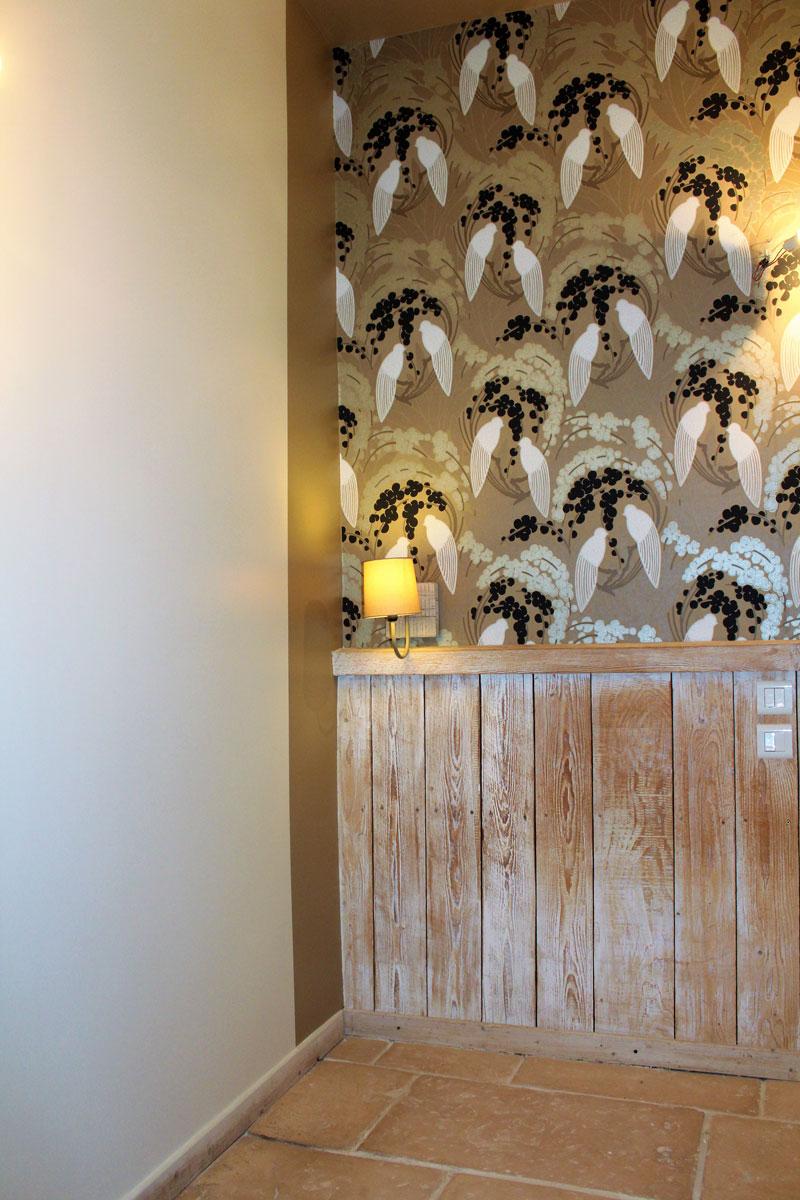 décoration papier peint hôtel cap d'Antibes