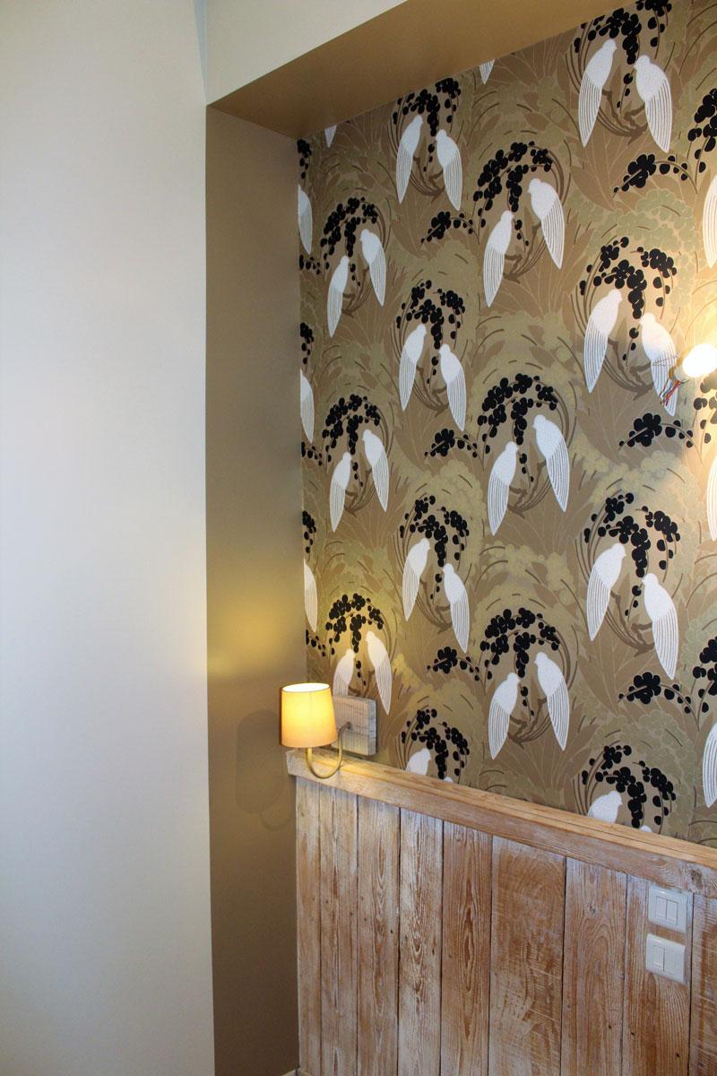 décoration papier peint intérieur chambre hôtel Antibes
